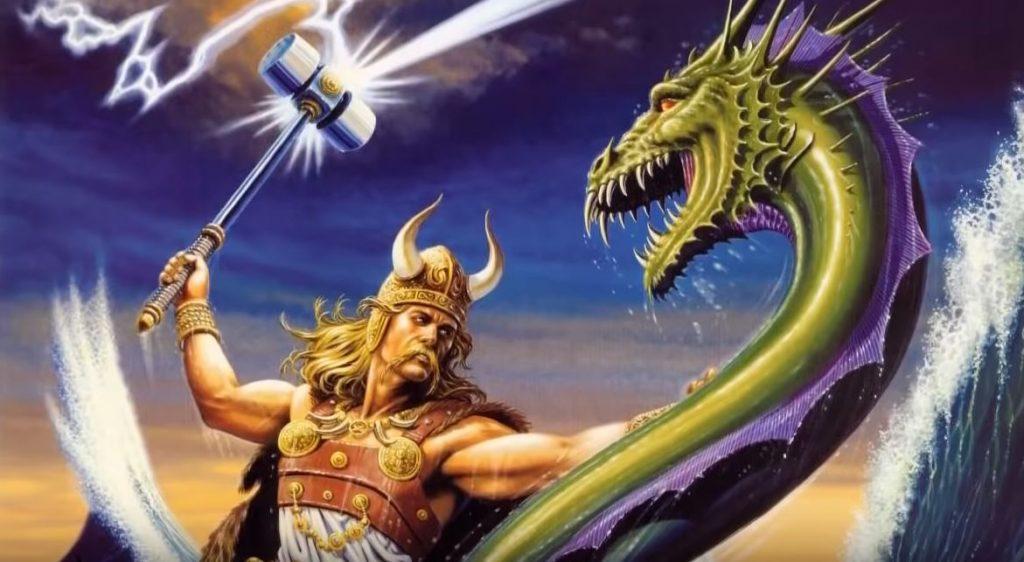 Тор е бие със змея Йормунганд