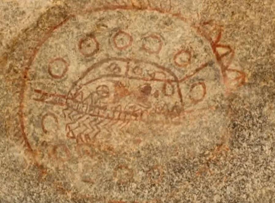 скална рисунка в древна Индия