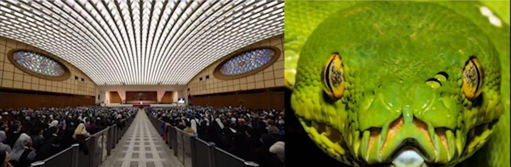 залата за конференци има форма на змийска глава