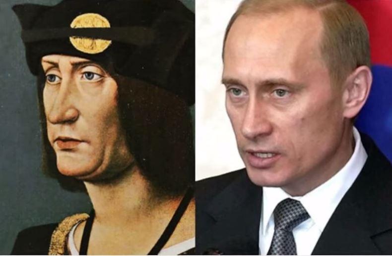 Путин и френския крал Людовик 12