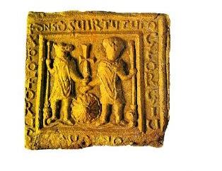 свети христофор - керамична -икона -5-7 век-Македони