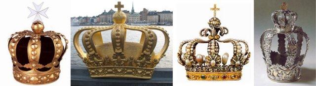 корона във формата на важдра-мълния