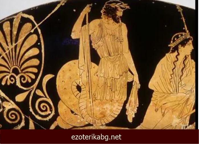 човек със змийско тяло Древна Гърция