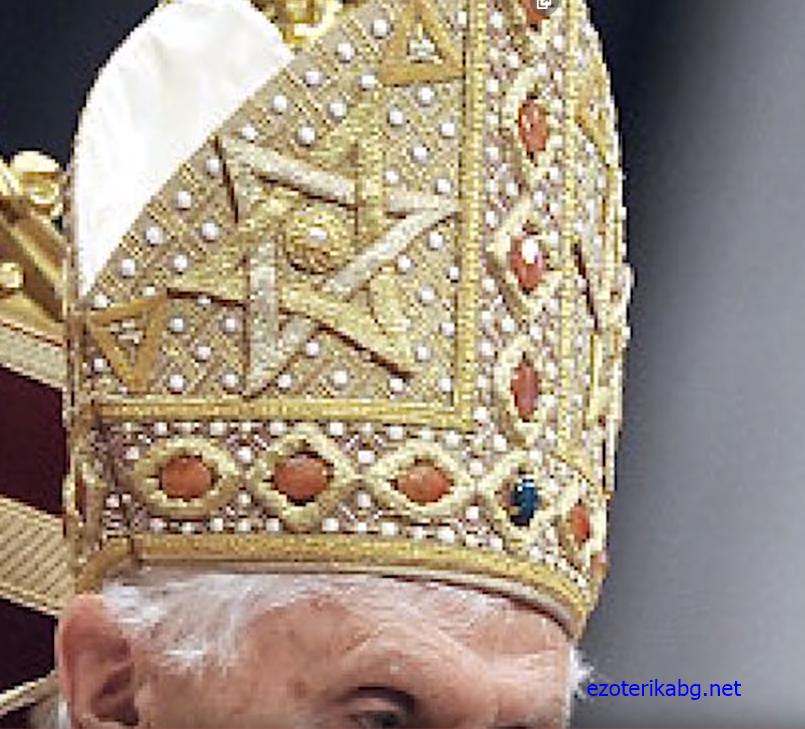 символ върху папската тиара