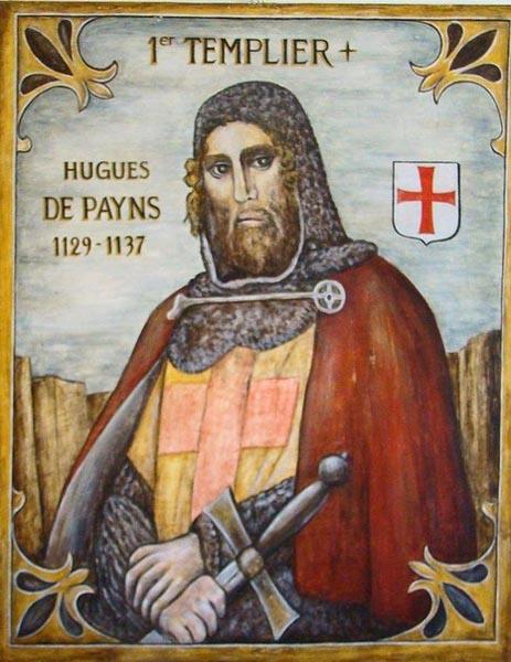 Основател и върховен учител на рицарите тамплиери, Хуго де Пейен
