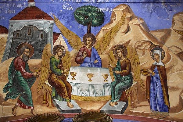Авраам и Сара гощават трима ангели