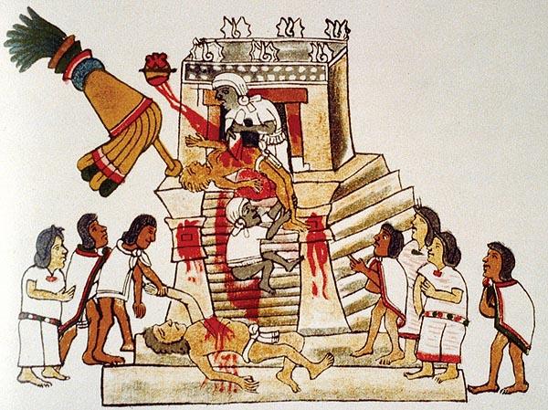 жертва на боговете при ацтеките