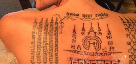 Анджелина Джоли си направи магически татуировки,за да задържи Брат Пит