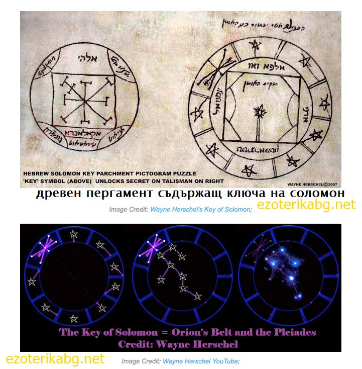 ключът на Соломон и връзката му с Орион и Плеяди