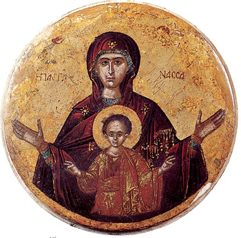 Образът на Пресветата Богородица и Бога младенец Христос