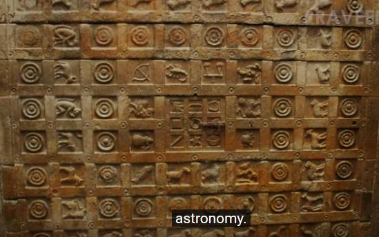 Древен астрологически релеф в Индийски Храм