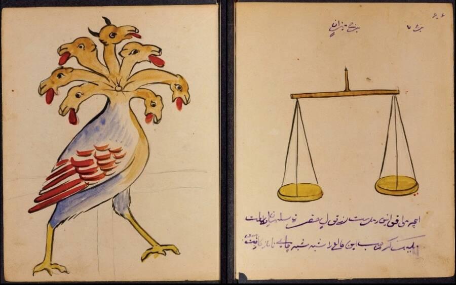 Демон, подобен на птица, свързан със зодия Везни.