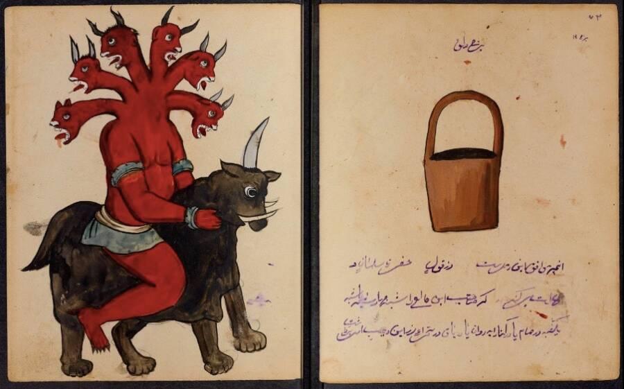 Езда на крава, шестоглав демон, свързан със зодия Водолей.