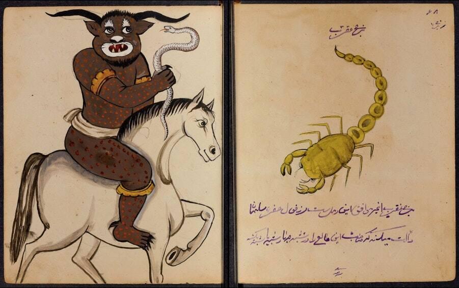 Всяко изображение е придружено с ритуални предписания за работа с различните същества.